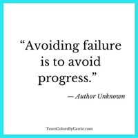 Don't be afraid to fail. #Progress #Inspiration