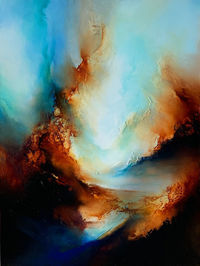 Original abstract expressionism 'Earth and Fire' by award-winning artist, Simon Kenny $5300.00