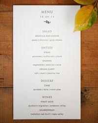 What do you think? Are you ready to make your own menu cards? Have you already done this? Any tips or tricks to share