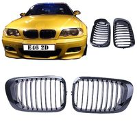 Carbon Fiber Black Front Kidney Grill Grille For BMW E46 2 Doors 3 Series 1998-2002 Coupe $48.50