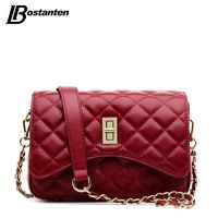 BOSTANTEN Genuine Leather Lady Diamond Lattice Small Chain Cross Body Bag R604.05