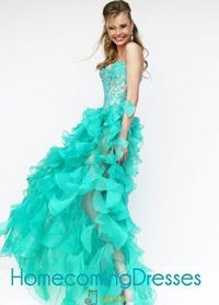 Girls Embroidered Top Hi-lo Organza Ruffled Emerald Party Dress