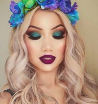Flowers and makeup