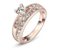 Claw Set Solitare With Surrounding Stones Ring £17.95