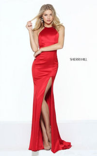 Simple Captivating Sherri Hill 50869 Low Open Keyhole Prom Dress