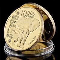 Animal Commemorative Coin Collection African Elephant Collectible Coin $13.10