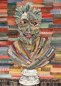 Nick Georgiou is an artist from Queens, New York who creates his pieces by sculpting newspapers and books collected over the years. What? Crazy sheee... I mean