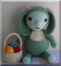 Pot Belly Baby Bunny, free pattern by Aleta Lyn