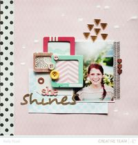 She Shines - Studio Calico Roundabout Kit - Kelly Noel | See more about crate paper, noel and studio calico.