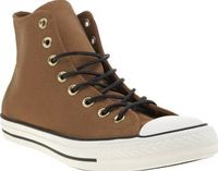 Converse Tan All Star Hi Leather Corduroy Mens Its cool to wear Corduroy and thanks to Converse you can wear it in style as the Chuck Taylor All Star Hi Leather lands at schuh. The tan hi-top features a corduroy tongue and heel strip for added int http://...