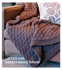 Lot of Free Knitting Patterns - Lattice and Basketweave Throw from the Afghans Free Knitting Patterns Category and Crocheting Patterns