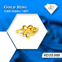 Make her wishes come true with this sparkling gold ring.