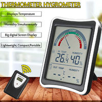 Wireless Digital Thermometer Weather Temperature Humidity For Indoor Outdoor Temp Meter