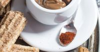 We upped the ante on decadent dipping sauces. A rich, creamy chocolate ganache with just a touch of heat. Pair with these Chardonnay Churros and a glass of La C