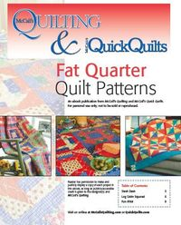Free ebook -- Fat Quarter Quilting Patterns from McCall's Quilting