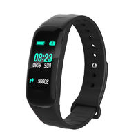 "XANES F602 0.96"" IPS Color Touch Screen IP67 Waterproof Smart Bracelet Pedometer Heart Rate Blood Pressure Sleep Monitor Fitness Smart Watch"
