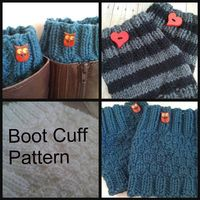 $4.00 Knit Boot Cuff PATTERN PDF (Since my mom made me a crochet board I may as wellpostknitting stuff on it! Right? Right!)