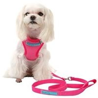 Dear Dog Extra Large Pink Mesh Dog Harness by Dear Dog The Pink Mesh Dog Harness by Dear Dog is the perfect dog harness for the dog about town. Made from a soft and durable mesh nylon designed in a pink print, every walk can now be sassy strut down each s...