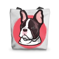 The Red Frenchie Tote Bag £17.99