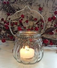 Victorian Glass Candle Holder
