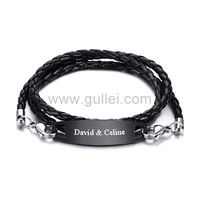 Personalized Braided Wrap Promise Bracelet Stainless Steel https://www.gullei.com/personalized-braided-wrap-promise-bracelet-stainless-steel.html