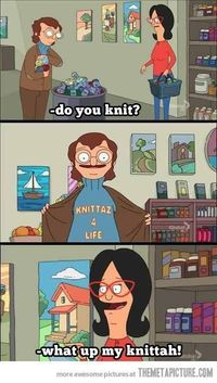 Just yesterday I was thinking, hmmm, wonder if any crafty folks have knit or crocheted any of the Belcher family? The answer, my friends, is below! Bob's Burger