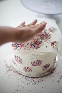 Birthday Party Cake Frosting Technique - Using A Handmade Paper Stencil To Decorate Your Next Cake