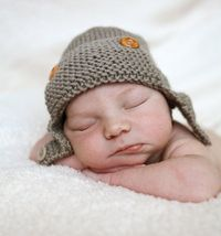Aviator Hat Knitting Pattern Baby to Child sizes REGAN Instant Download &4.00