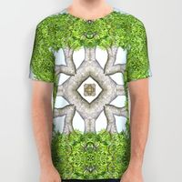 cool bark and leaves inspired kaleidoscope t-shirt.