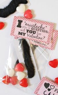 Mustache Valentines (with free printable tags) - I Can Teach My Child!