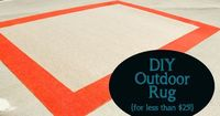 DIY Outdoor Rug for Less Than $25! >> including source for great rug
