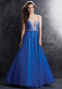 Madison James 15-106 Sexy Beaded Illusion Neck Ball Gowns