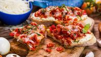 Bruschetta Melts- Pick up some summer tomatoes and make theses delicious appetizers!