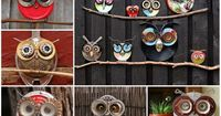 You are going to love to make your own Saucepan Lid Owls and they are a very easy DIY. We have lots of inspiration in our post and bike wheel Owls too.