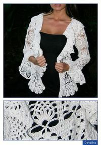 A free pattern on Ralvery. I just love the look of this cardigan but the pattern is in Portuguese. :(