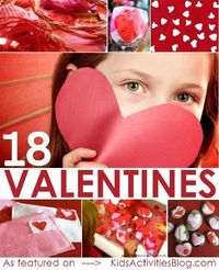We've rounded up 18 Valentines Crafts that we discovered from some of our favorite online places!