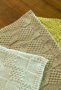 Knitted cotton towels free pattern.