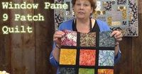 Window Pane 9 Patch Quilt Tutorial | Beauty of Planet Earth