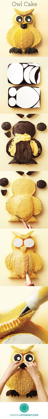 Owl Cake How-To-- sooo whoo is making me this for my birthday?