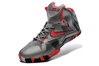 Wolf Grey Cool Grey Black with Laser Crimson King James Elite 11 Discount Sneakers - Team Pack