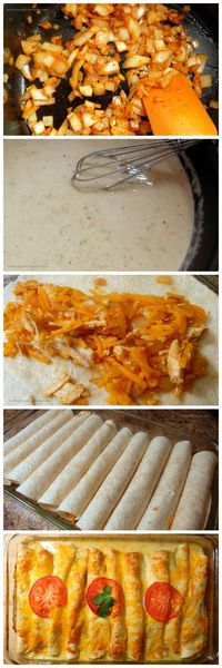 white chicken enchiladas, white chicken and chicken enchiladas.