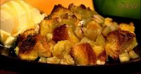 Carla Hall's Honey Apple Bread Pudding recipe. #thechew