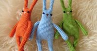 Linguine bunnybuns... From outer space! *With pattern* - CROCHET