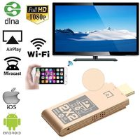 1080P Wireless Wi-Fi Display TV Dongle Receiver, 2.4GHz HDMI TV Stick Miracast Airplay DLNA Adapter