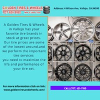 Get the highest and best quality used and new tires at greatly discounted prices . For more information click on link: https://www.goldentiresandwheels.com/ Call:(707) 651-9180