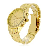 Men's Gold Plated Decorative Chronograph Analogue Watch £7.88