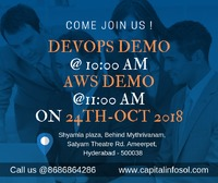Attend #DevOps #Demo @10:00 on 24th-Oct-2018  Attend #AWS # DEMO @11:00 on 24th-Oct-2018 at Capital Info solutions  For more information and details Call: 8686864286 #Wednesday #technology #training #projects #online and #classroom #projects #world #...