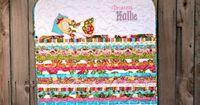 """princess and the pea quilt - 40 """"mattresses"""" made from a honeybun!"""