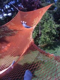 Tweet I saw this image today of a huge hammock on Pinterest and knew it had to be shared. Wouldn't this be so much fun? I could have my whole family take a nap