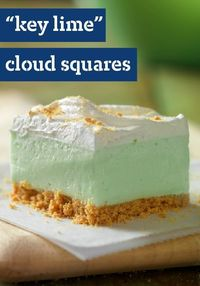 """Key Lime"" Cloud Squares -- Get a taste of the tropics in this delicious dessert recipe--a cool treat great for summer and ready for the refrigerator after just 20 minutes of prep."